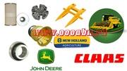 АБН-запчасти для комбайнов CLaas, New Holland и John Deere