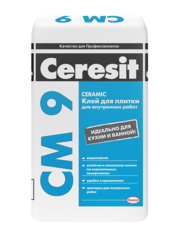 Ceresit СМ 9. Клей для плитки для внутренних работ